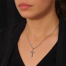 Крестик из белого золота Статус