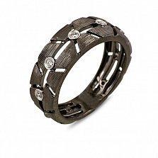 Кольцо из черного золота с бриллиантами Нео