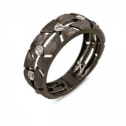 Кольцо из черного золота с бриллиантами Нео 000037854