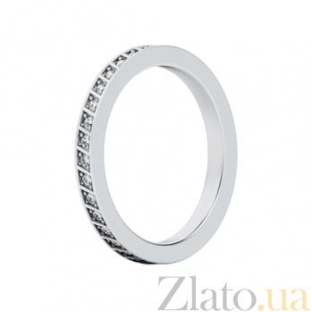 Обручальное кольцо из белого золота с бриллиантами Чистый родник 323