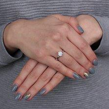 Серебряное кольцо Аманда с фианитом