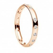 Обручальное кольцо с бриллиантами Pure shine