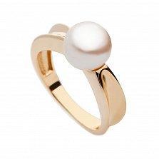 Золотое кольцо с жемчугом Совершенство