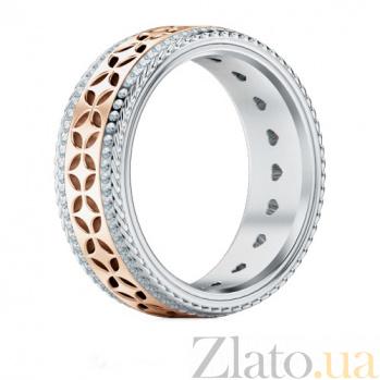 Обручальное кольцо Карусель желаний из розового и белого золота с бриллиантами 1387