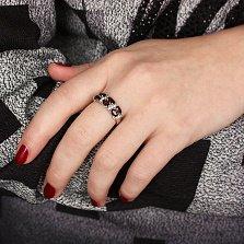Серебряное кольцо с гранатами Фиолент