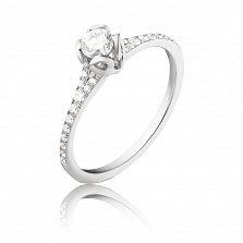 Золотое помолвочное кольцо Энди с бриллиантами