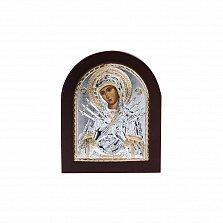 Серебряная икона Божья Матерь Семистрельная с позолотой