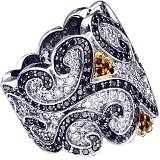 Золотое кольцо с рубинами и бриллиантами Катарина