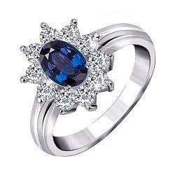 Кольцо из серебра с цирконием Сафира