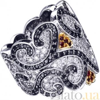 Золотое кольцо с рубинами и бриллиантами Катарина KBL--К1646/бел/руб