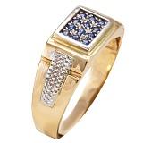 Золотой перстень с сапфирами Викториан