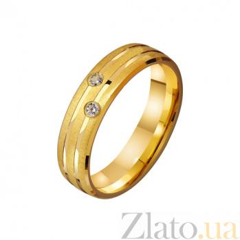 Золотое обручальное кольцо с фианитами Любящая пара TRF--4121664