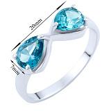 Серебряное кольцо Бесконечность с синтезированным топазом лондон