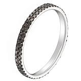 Кольцо в белом золоте Офелия с бриллиантами