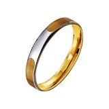 Золотое обручальное кольцо Аргентинское танго