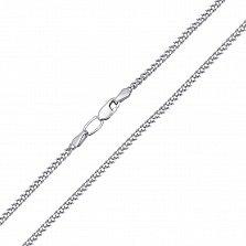 Серебряная цепочка родированная Панцирная, 2,5мм