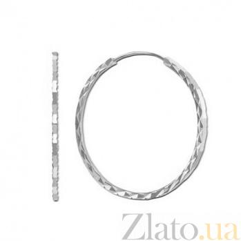 Серебряные серьги Кристалл LEL--85000/2