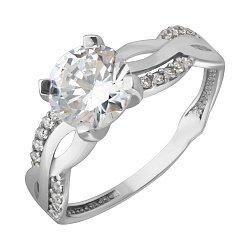 Серебряное кольцо с фианитами Дарья
