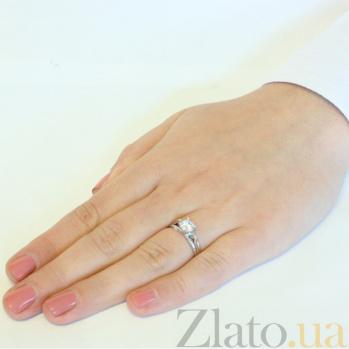Кольцо из белого золота с фианитом Апогей шарма SUF--153394б