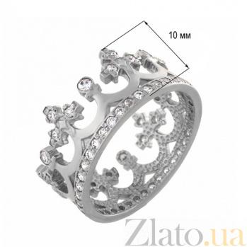 Золотое кольцо Сказочное королевство в белом цвете с фианитами 11920/б