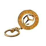 Автомобильный брелок Mercedes из красного золота