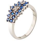 Золотое кольцо с сапфирами Жозефина