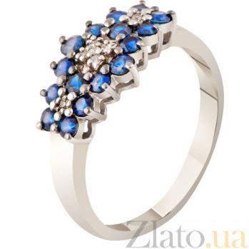 Золотое кольцо с сапфирами Жозефина KBL--К1850/бел/сапф