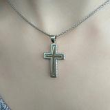 Серебряный крест с золотыми вставками Небесная песня