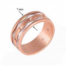 Обручальное кольцо из красного золота Судьба