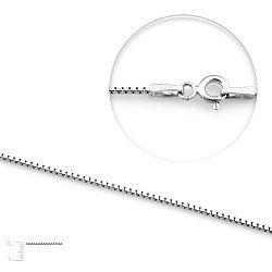 Серебряная цепь Шарлин, 1 мм