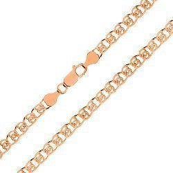 Серебряная цепь с позолотой, 3 мм 000026054