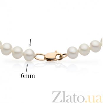 Жемчужное ожерелье с золотым замком Эдит Пиаф, d 6,0-6,5мм SG--7874000048001/мал