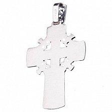 Серебряный крест Распятие с чернением