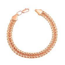 Золотой браслет в плетении королевский бисмарк 000101553