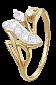 Кольцо из серебра с позолотой и фианитами Лиджсбет 000025585