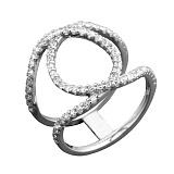 Серебряное кольцо Альсив с фианитами