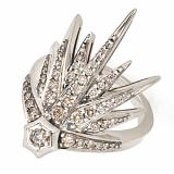 Кольцо GENESIS из белого золота с коньячными бриллиантами