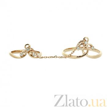 Двойное кольцо из золота с бриллиантами Дельфиния 000021400