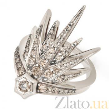 Кольцо GENESIS из белого золота с коньячными бриллиантами R-Stern-E-47bd