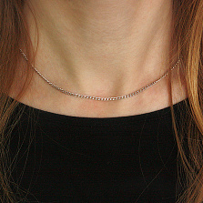 Серебряная цепочка Дантин в плетении гурме, 2мм
