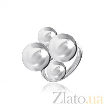 Серебряное кольцо Bubbles  000028029