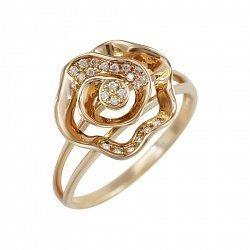 Кольцо из красного золота Розалин с бриллиантами