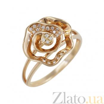 Кольцо из красного золота Розалин с бриллиантами 000080924