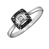 Кольцо из белого золота Чикаго с бриллиантом