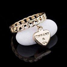 Золотое кольцо Мистрель с подвеской в стиле Тиффани