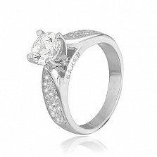Кольцо из серебра с фианитами Мисс Безупречность