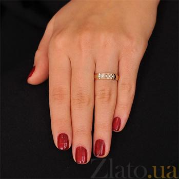 Золотое обручальное кольцо с бриллиантами Счастливый день 000001617