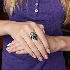 Серебряное кольцо Ночное рандеву Виктория
