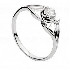 Кольцо из белого золота с бриллиантом Амели
