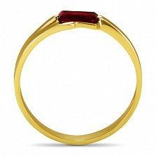 Кольцо из желтого золота Шенон с гранатом